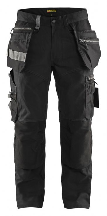 "CLEARANCE Blaklader 1590 Craftsman Trousers with Stretch (Black) C60-44R-44""W-34""L"